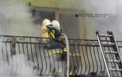 Więcej o: Pożar budynku mieszkalno – usługowego w Suchej Beskidzkiej