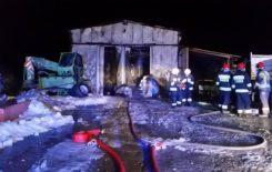 Więcej o: Pożar wiaty warsztatowej na terenie budowy tunelu drogi nr 7