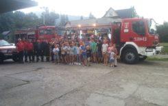 Więcej o: Kręci mnie bezpieczeństwo – wspólna wizyta strażaków, GOPR i Policji u wypoczywających dzieci w Zawoi.